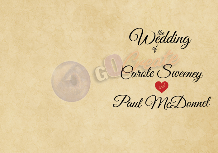 GoCreate Wedding Template – Old Cork