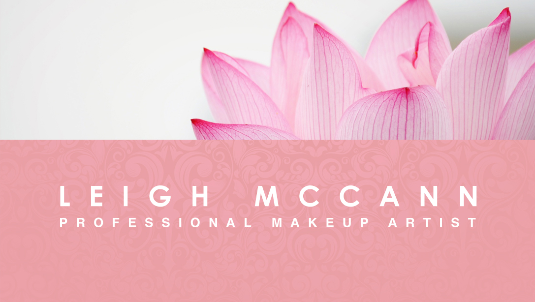 Vintage Pink – Makeup Artist Business Card
