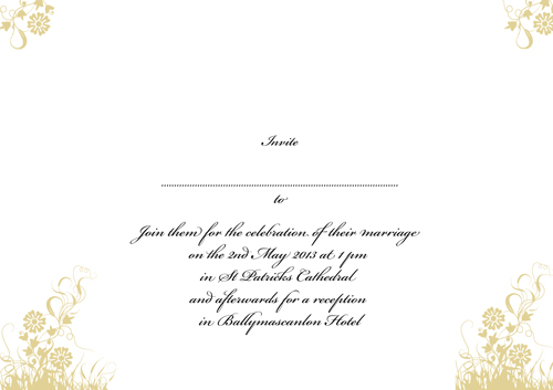 Floral Gold – Wedding Card