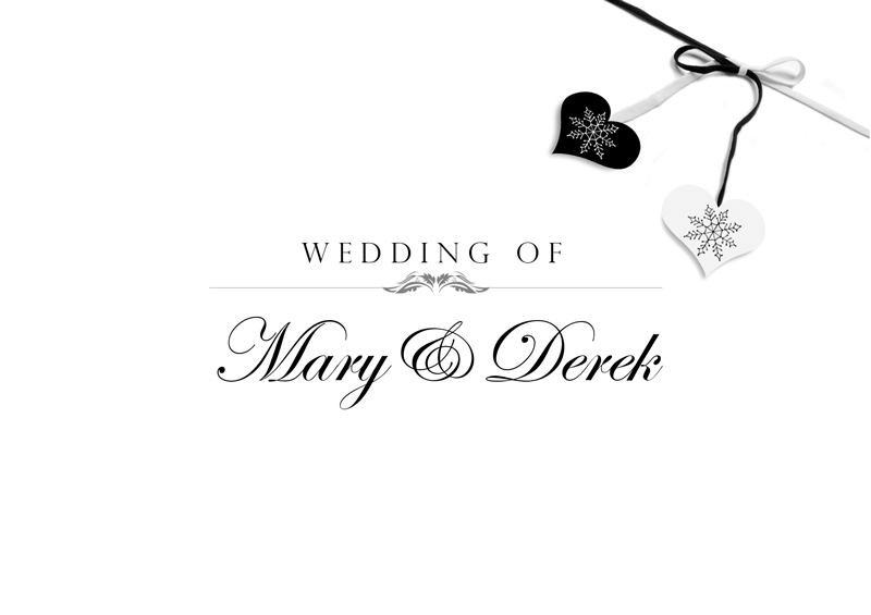 Classic Black & White – Wedding Card