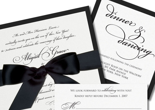 Black Tie – Classic Wedding Card